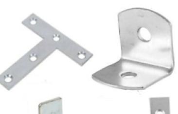 Pletinas de aluminio con agujeros
