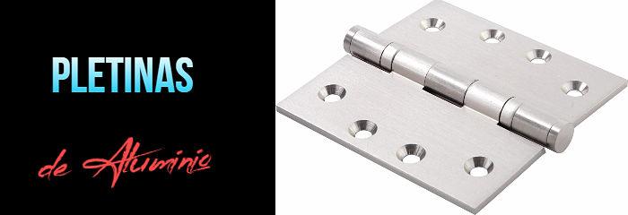 Pletinas de aluminio para puertas