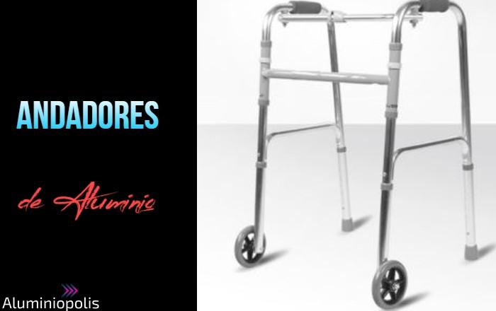 Un andador de aluminio para adultos y ancianos