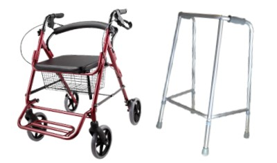 Andadores de aluminio para ancianos con frenos a presión y simple