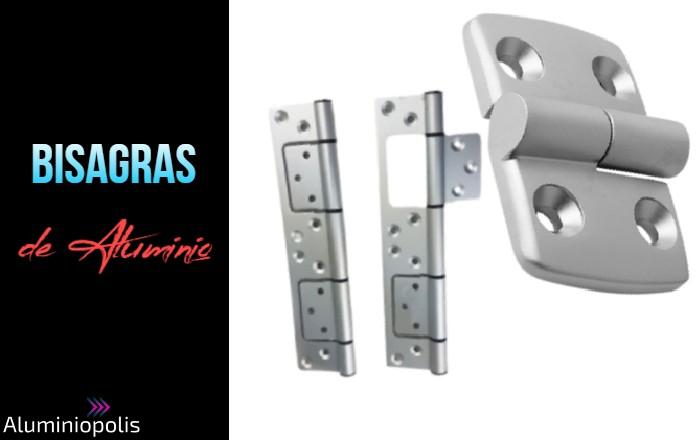 Dos tipos de bisagras para puertas fabricados en aluminio