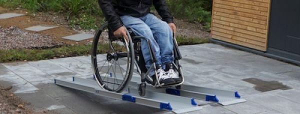 Rampa de aluminio para discapacitados