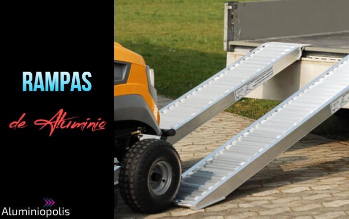 Una rampa de aluminio para vehiculos