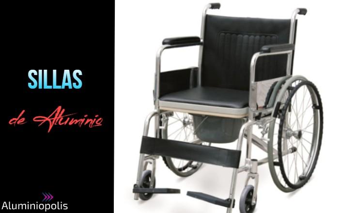 Una silla de ruedas de aluminio para ambulancia