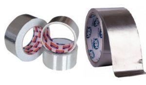 Varias tipos de cintas adhesivas de aluminio