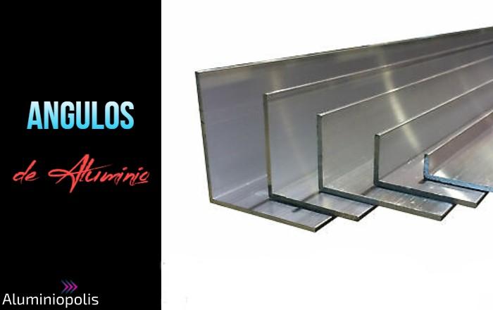 Varios perfiles en angulo L de aluminio