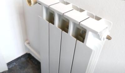 Pintar un radiador de aluminio de blanco