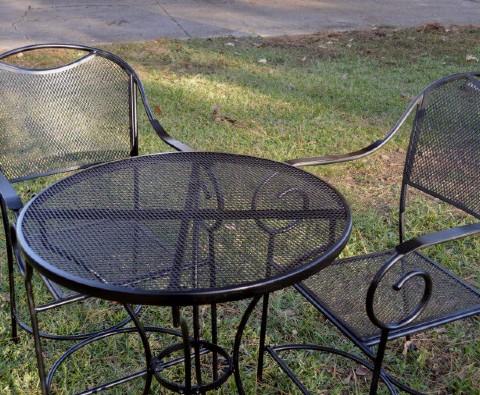 Resultado de la renovación de muebles de aluminio para jardin