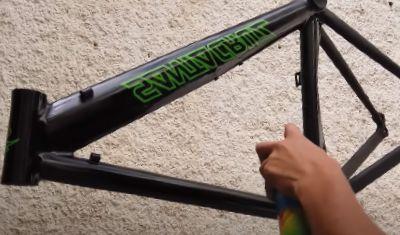 aerosol de pintura para bicicletas de aluminio