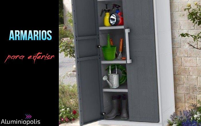 Un armario para exterior en aluminio para lavadora