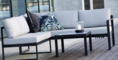 Conjunto de muebles de aluminio para terraza y jardin