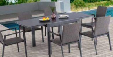 Una mesa extensible para jardín y terraza de aluminio