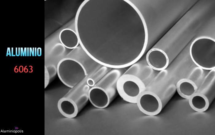 tubos de diferentes diámetros de Aluminio 6063