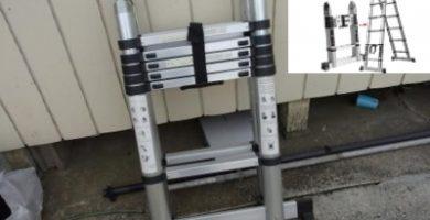 escaleras plegables de aluminio reforzada y segura