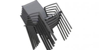 Sillas apilables de aluminio para hosteleria