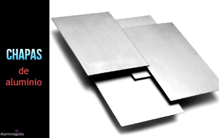 chapas de aluminio lisas espejo