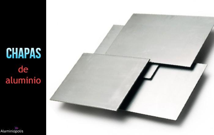 cuatro chapas de aluminio