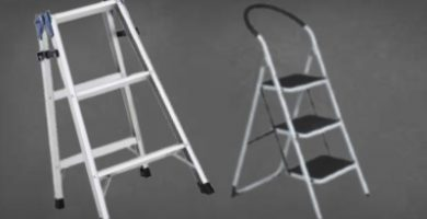 escaleras de aluminio de tres peldaños mor ultralivana