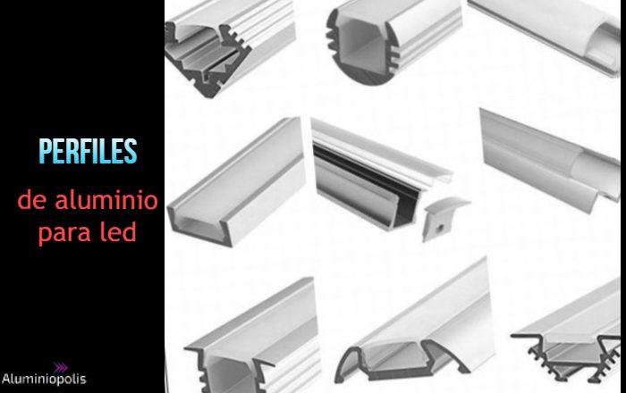 varios perfiles de aluminio para led