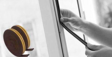 cambiando el burlete de la ventana