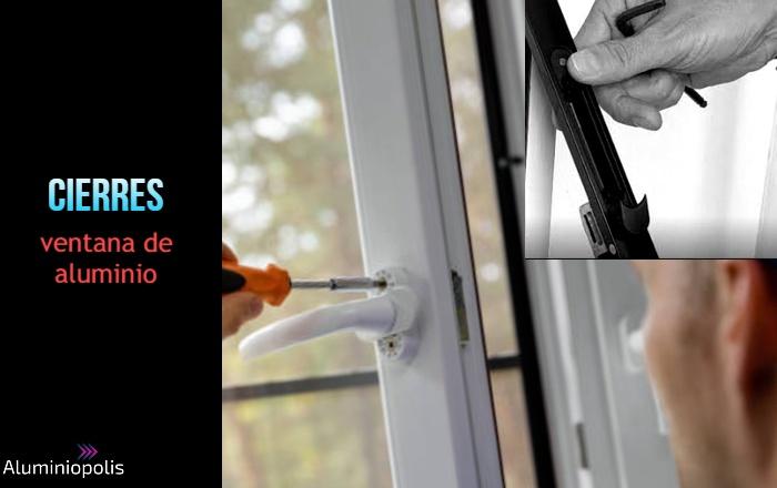 cambiando cierres de una ventana de aluminio