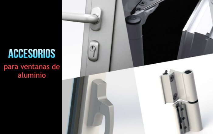 Accesorios para ventanas de aluminio