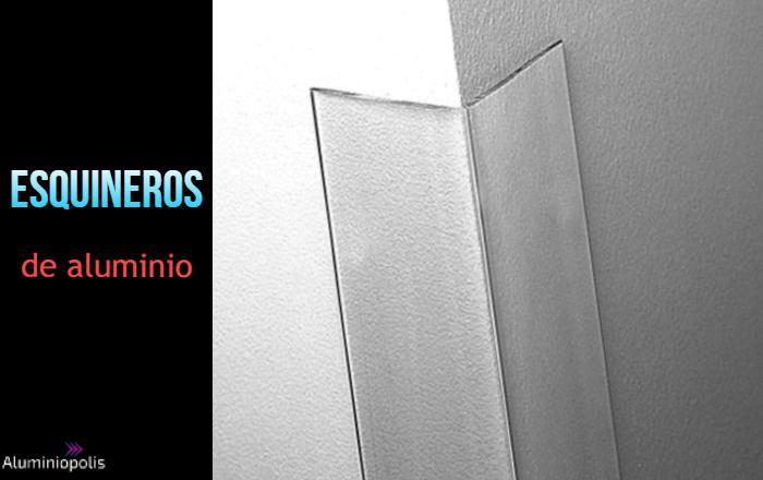 Un esquinero de aluminio para muebles y paredes