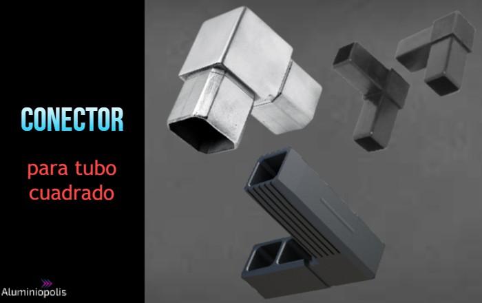 Plástico o metal para las uniones para perfiles cuadrados de aluminio