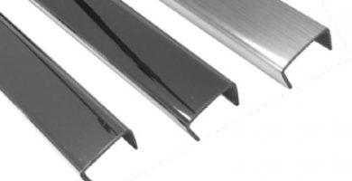 perfiles de aluminio en U de 25x25