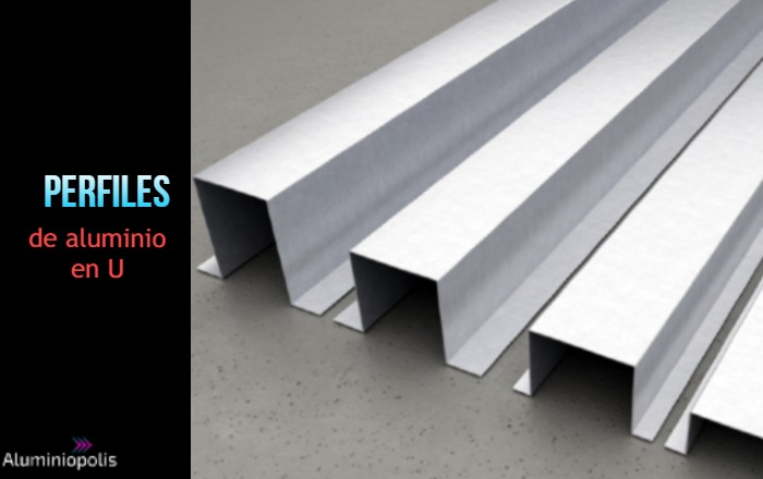perfiles de aluminio en U de diferentes medidas