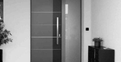 puerta entrada de aluminio exterior