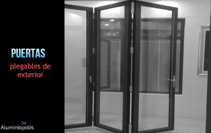 puertas plegables de exterior en aluminio y cristal
