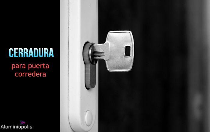 una cerradura para puerta corredera de aluminio