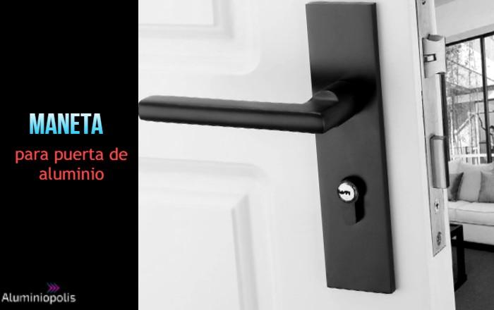 una maneta para puerta de aluminio moderna