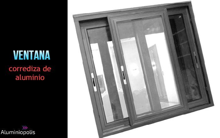 ventana corrediza de aluminio